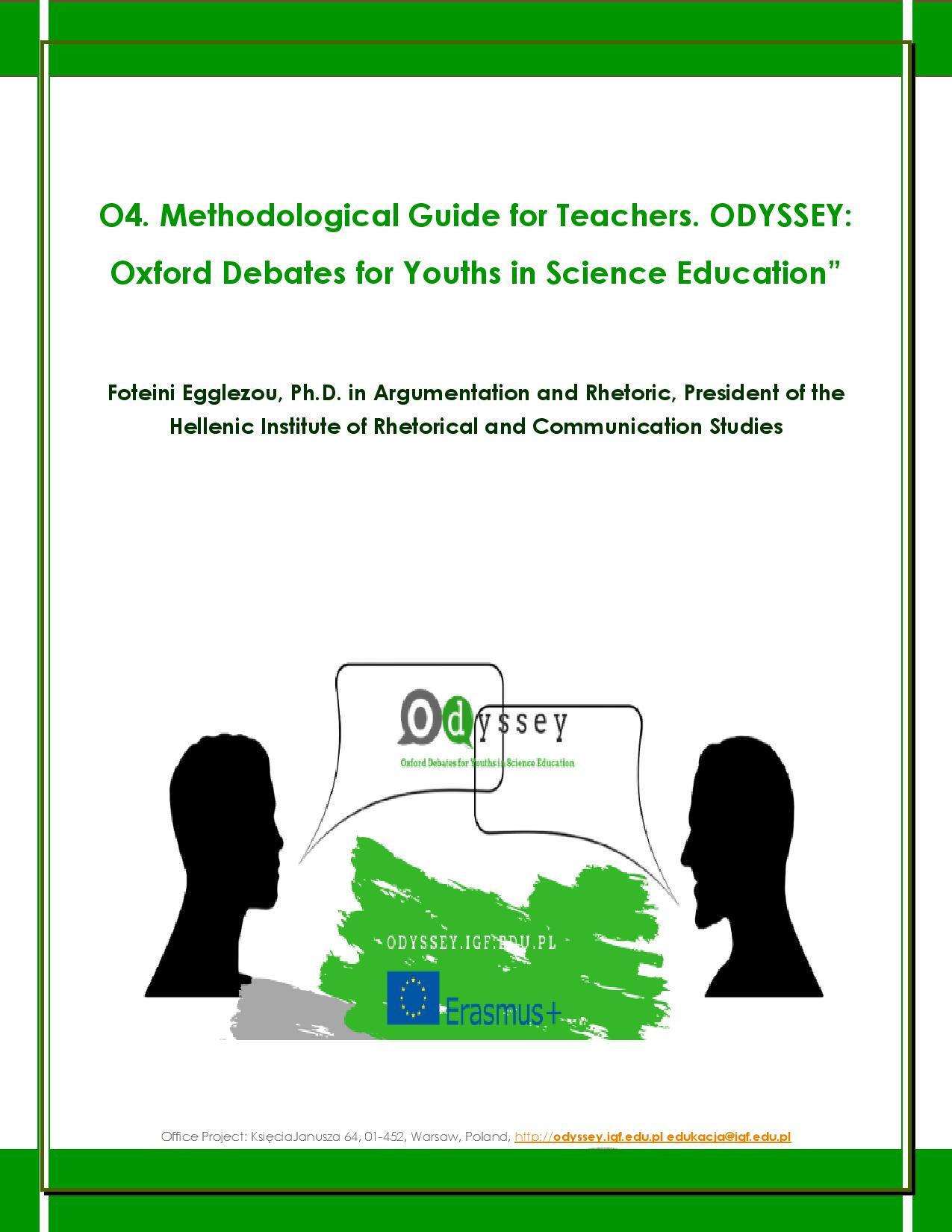 Μεθοδολογικός Οδηγός Ο4 «Οxford Debates για Νέους στη Διδακτική των Φυσικών Επιστημών» (στα Αγγλικά)